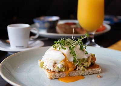 Breakfast poached eggs Restaurant Ballybunion