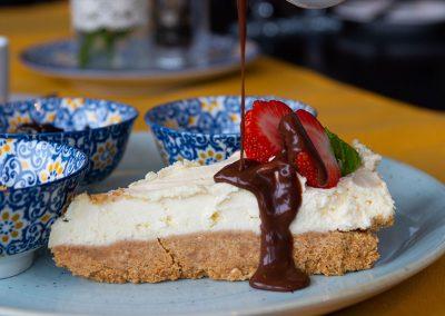 Dessert cheesecake Restaurant Ballybunion