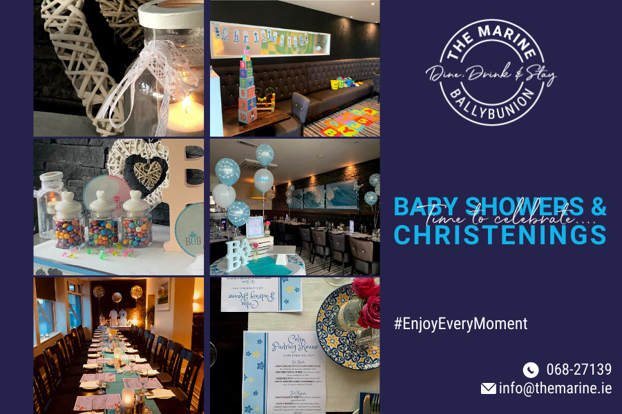 Baby showers & christenings in ballybunion