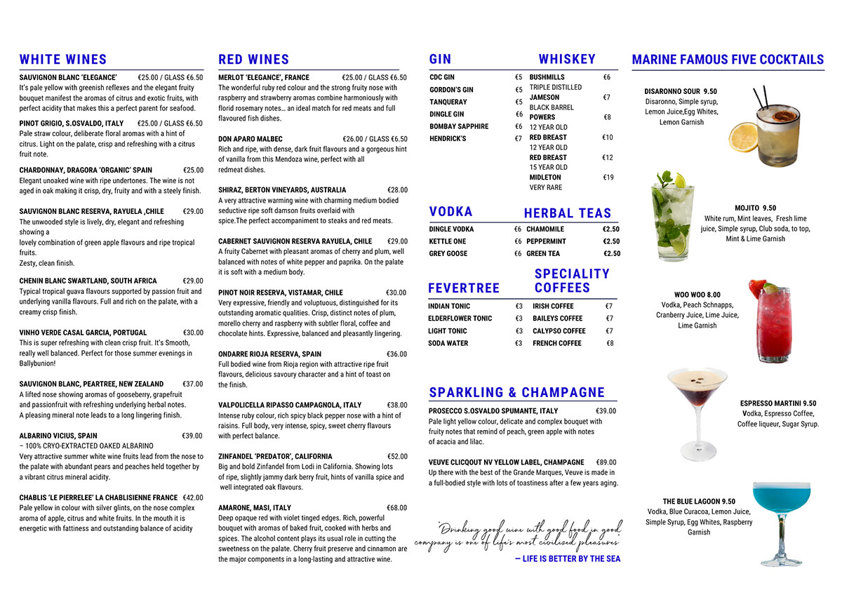 Dine-In-Menu-Drinks